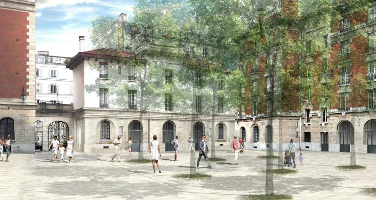 Caserne Minimes Paris Commerces GIE