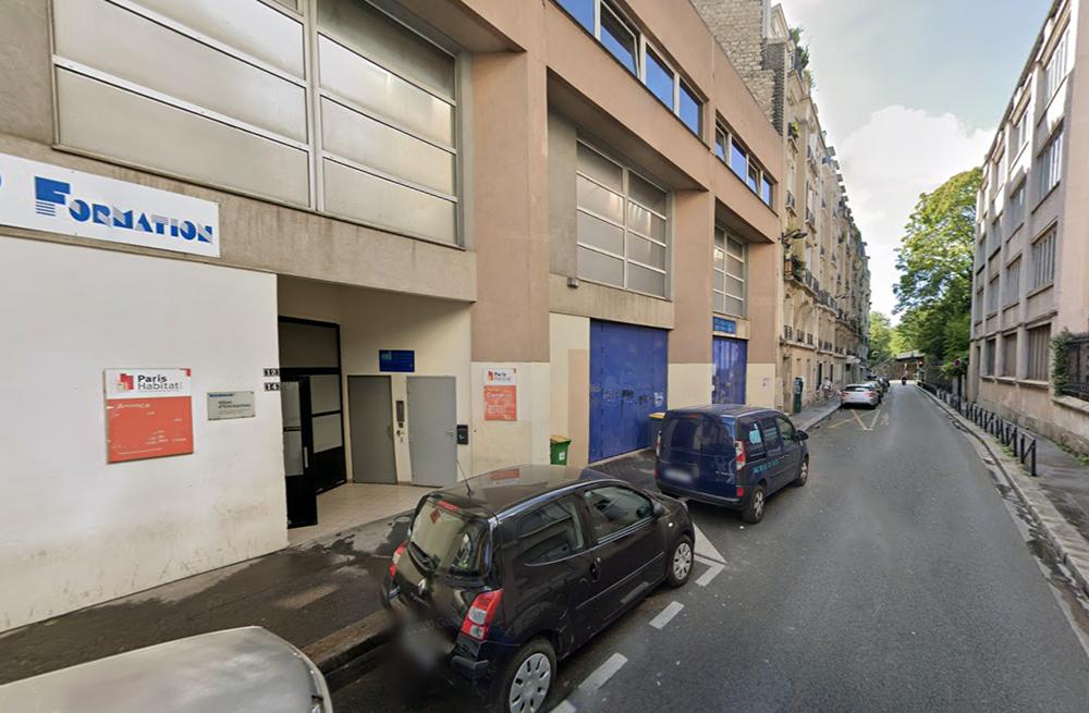 local industriel à louer 12 rue courat paris 20
